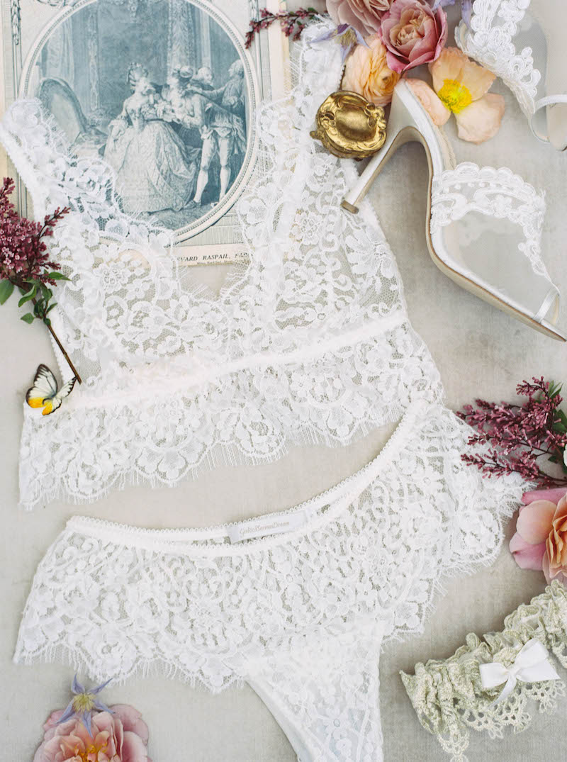 Lace Bridal Lingerie and Wedding Garter