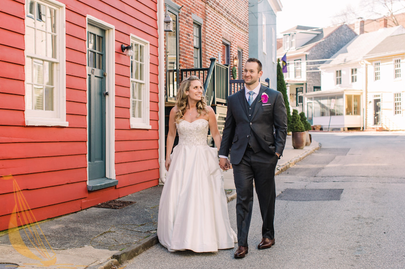 Bride and Groom Annapolis Wedding