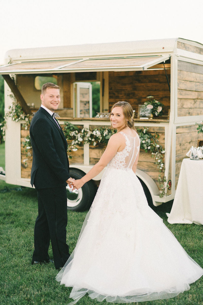 Bride and Groom Outdoor Bar Truck
