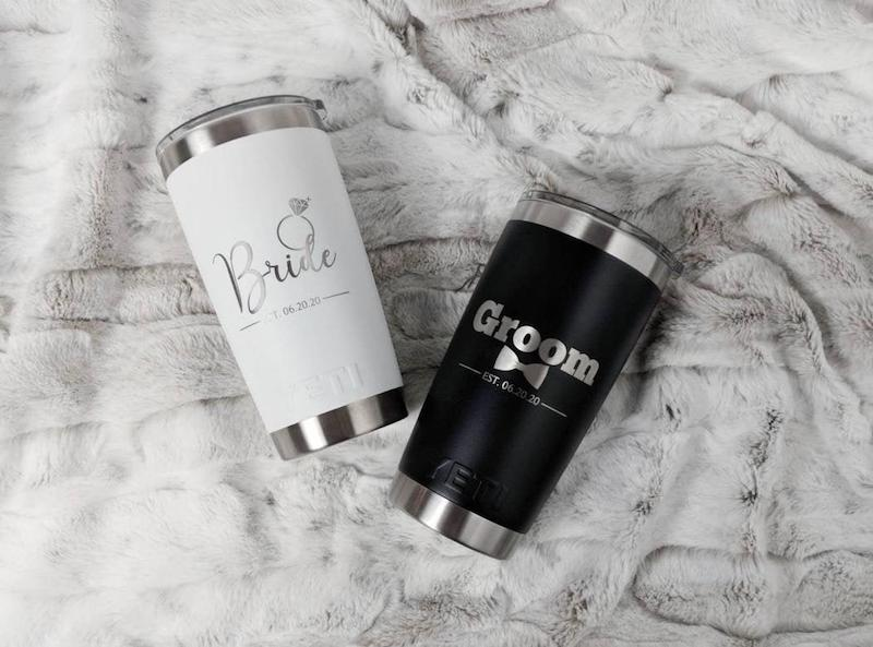 Bride and Groom Personalized Yeti Tumblers
