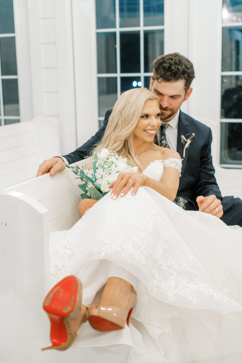 Bride and Groom Red Bottom Shoes