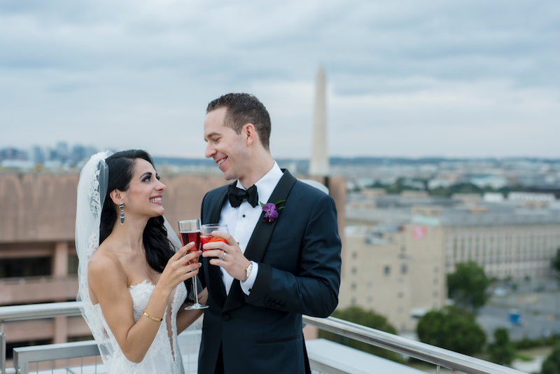Bride and Groom Washington DC Wedding with a View