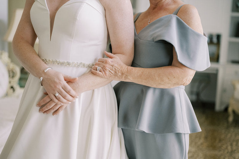 Bride and Mother on Wedding Day