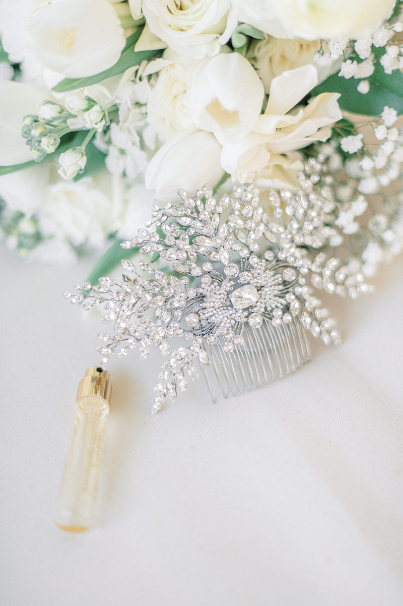 Bride Bouquet and Hair Comb