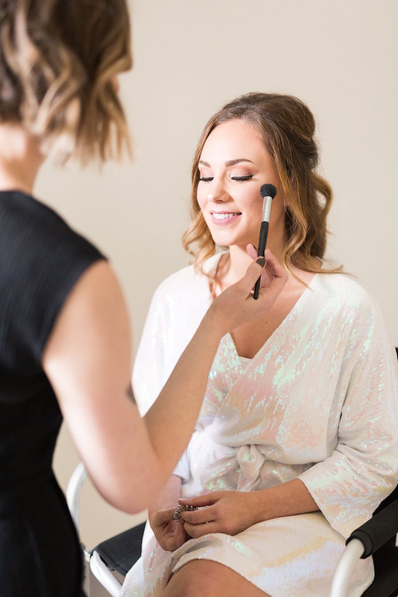 bride getting ready - Florida wedding
