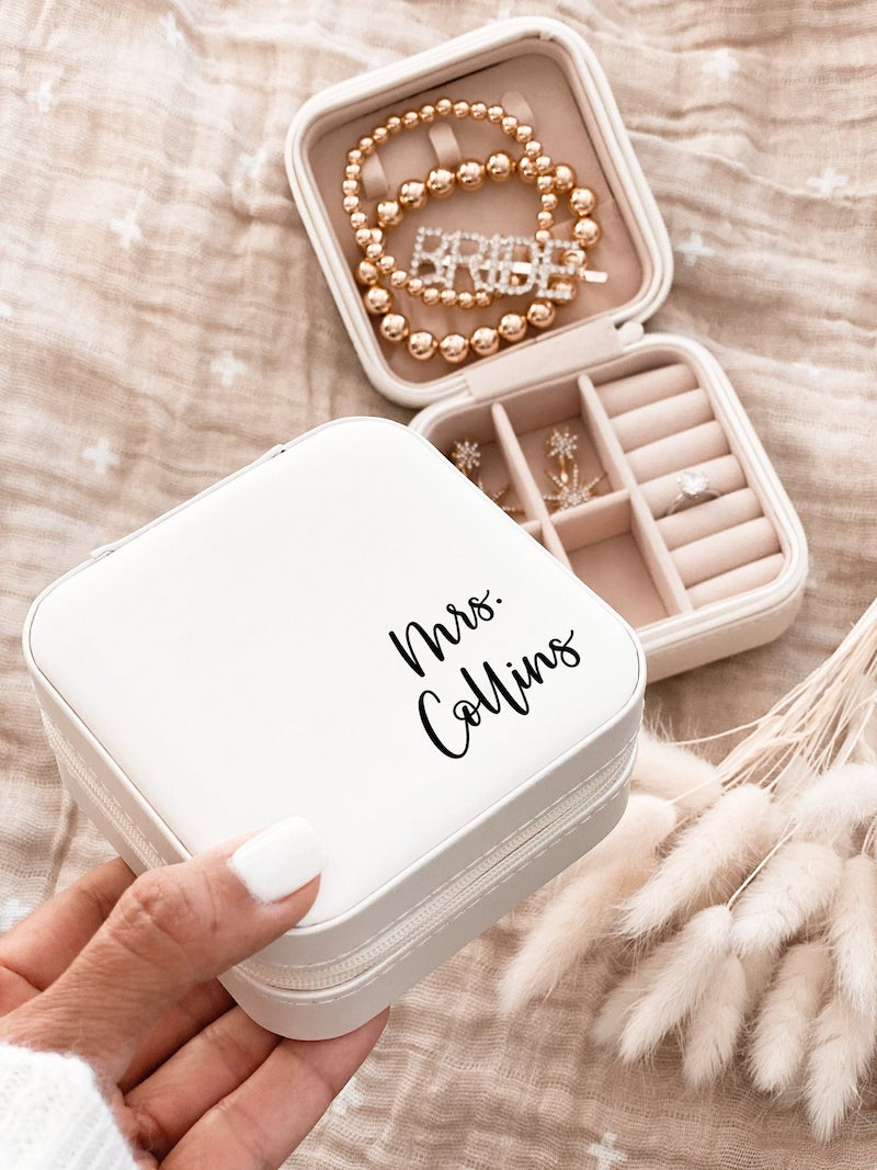Bride Jewelry Box Personalized Bridal Shower Gift