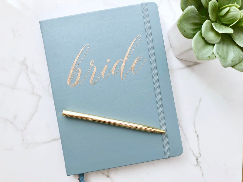 Bride Journal Notebook Gift