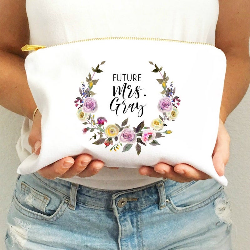 Custom Future Mrs Make Up Bag