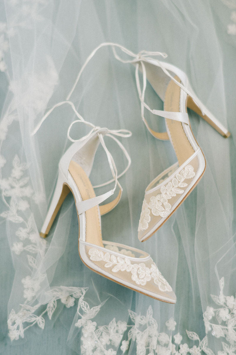 Bride Veil and Shoes