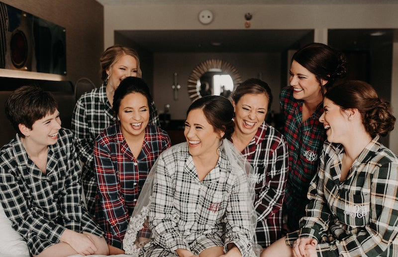 flannel shirts for bridesmaids