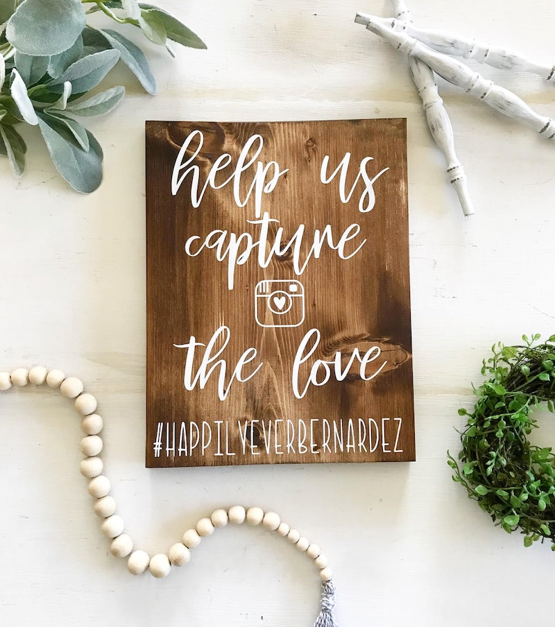 Wedding Hashtag Instagram Sign