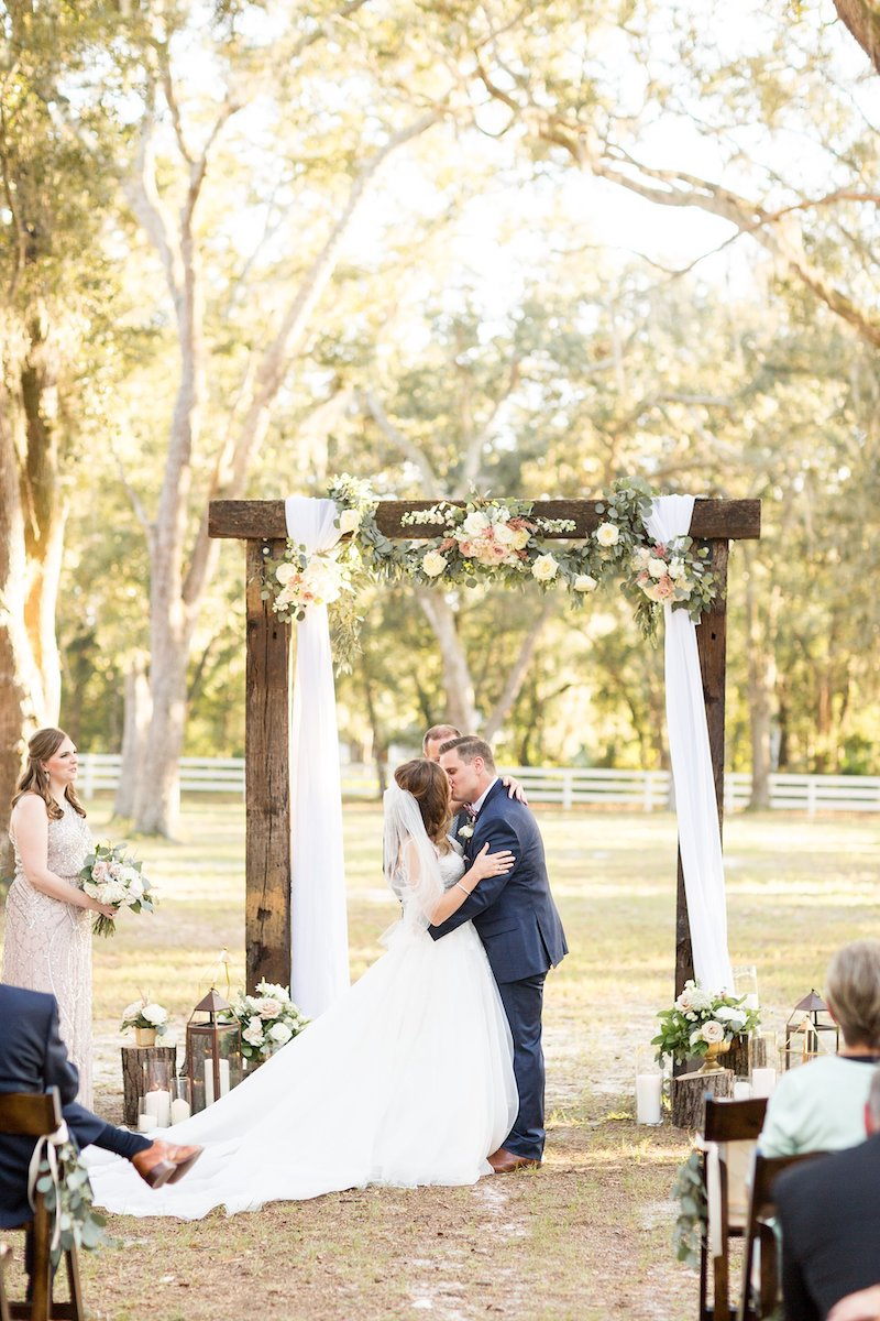 bride and groom - Florida wedding