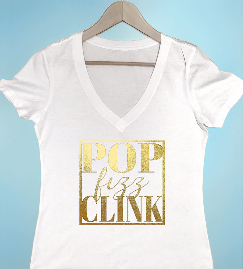 pop fizz clink tshirt idea by The Garter Girl
