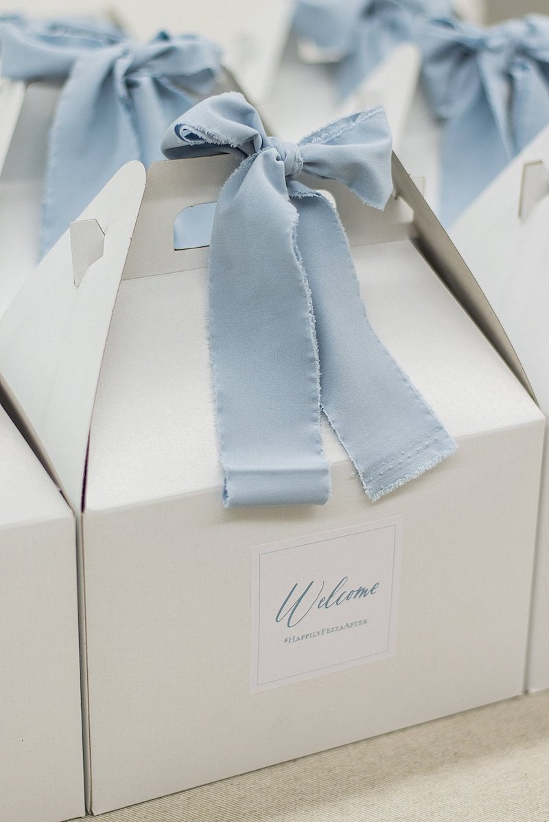 dusty blue wedding welcome gifts