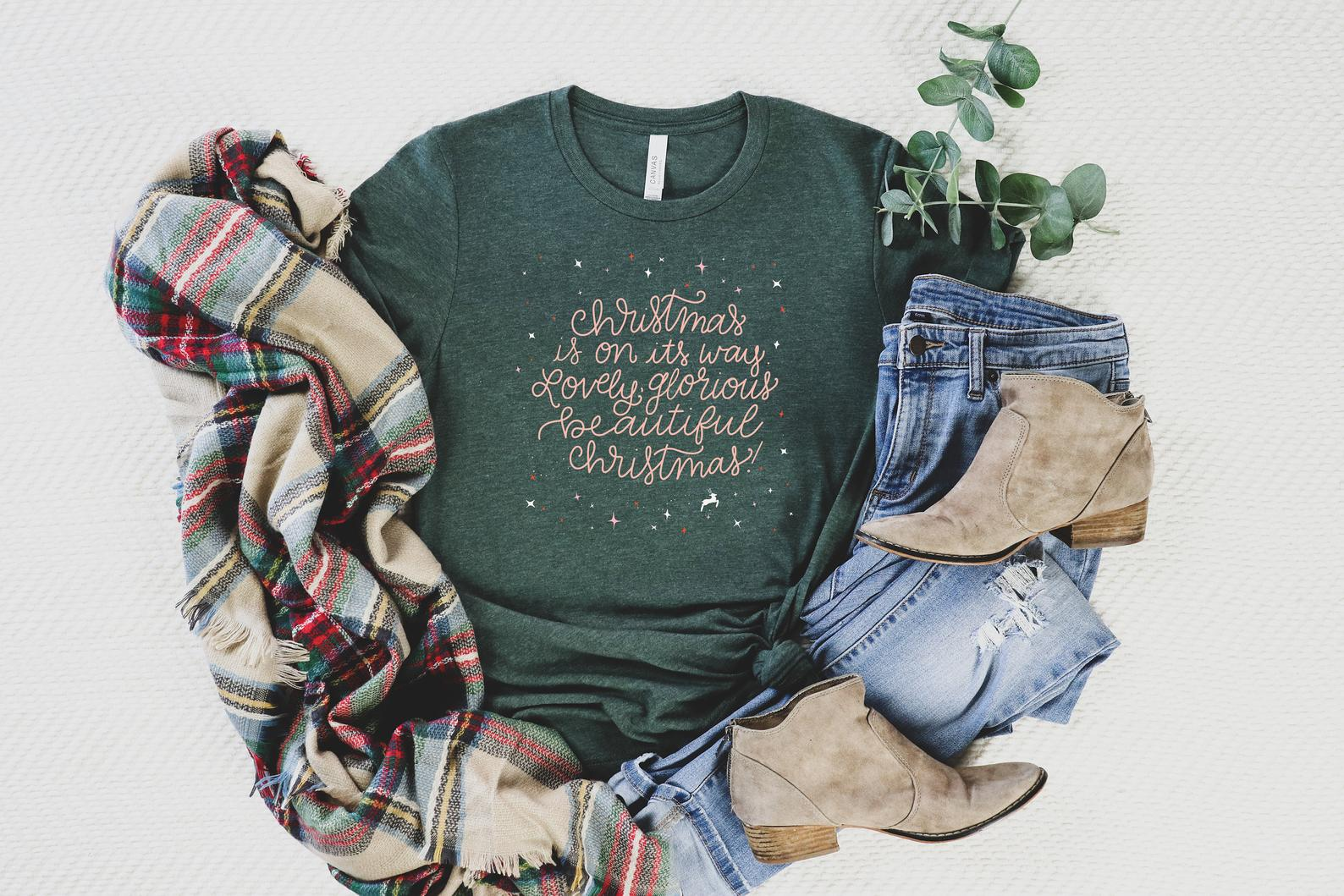 lovely glorious christmas story t shirt