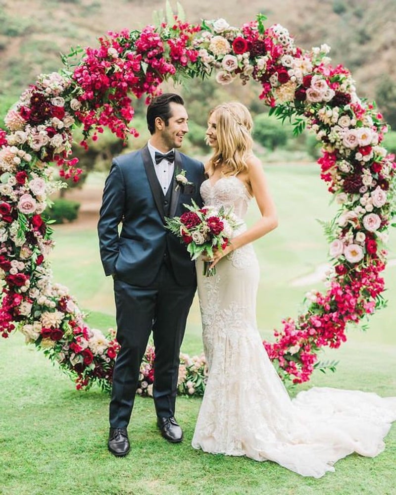Circle Floral Wedding Arch for Winery Wedding
