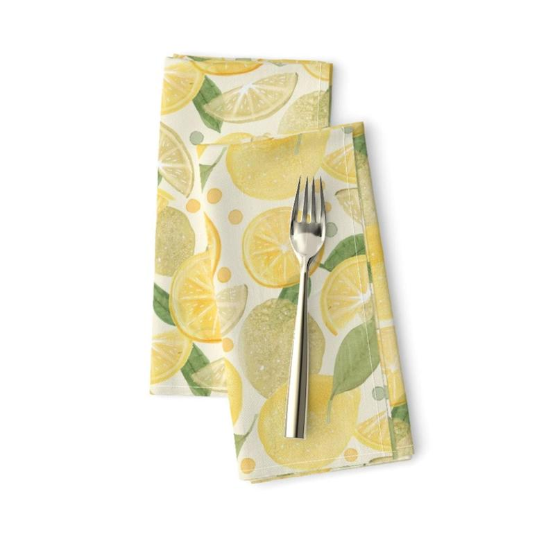 Citrus Lemons and Limes Dinner Napkins