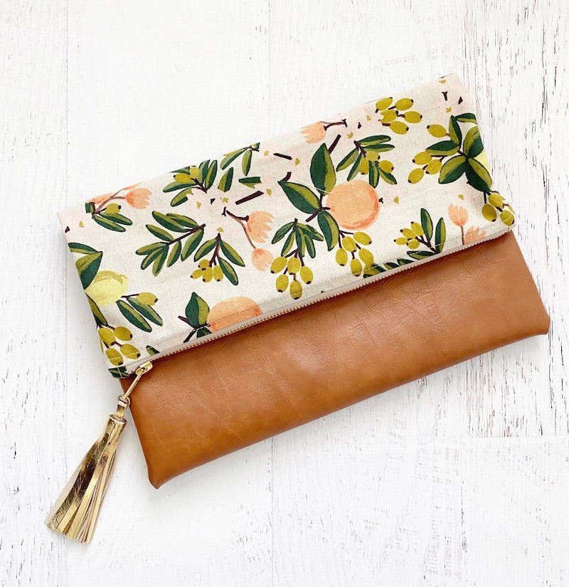 Citrus Rifle Paper Co Clutch Bridesmaid Gift