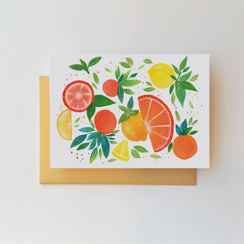 Citrus Thank You Cards