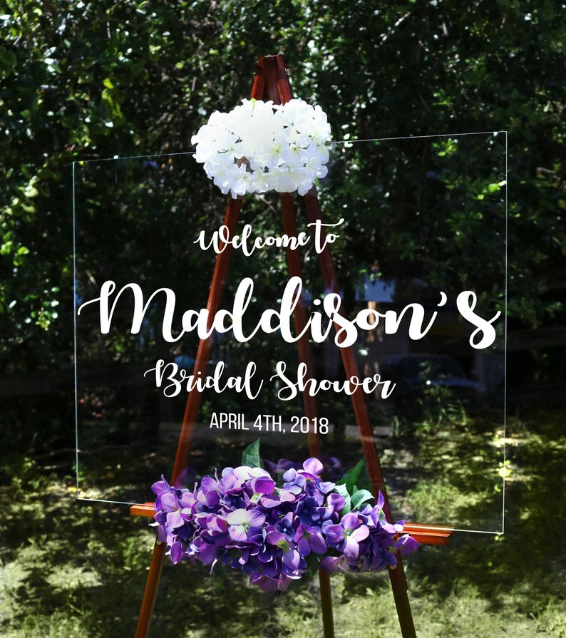 modern bridal shower welcome sign