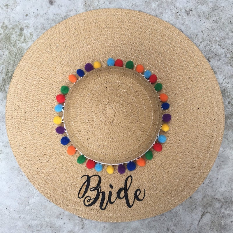Colorful Bride Floppy Hat