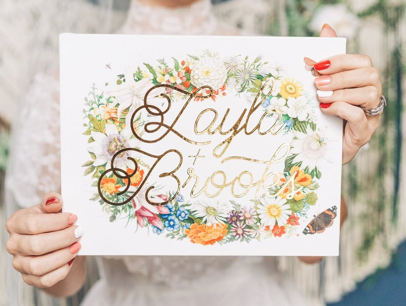 Colorful Floral Guest Book