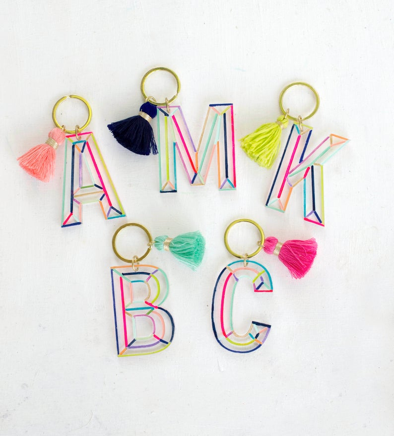 colorful keychains for bridal party