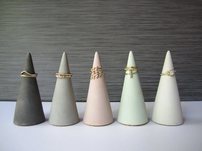 concrete engagement ring cone