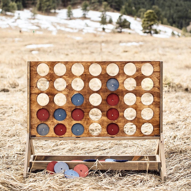 Connect 4 Yard Game for Outdoor Wedding