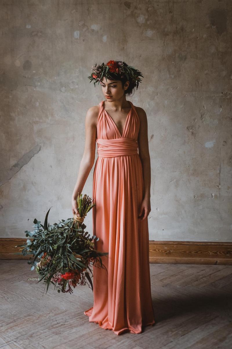 Coral Infinity Wedding Dress