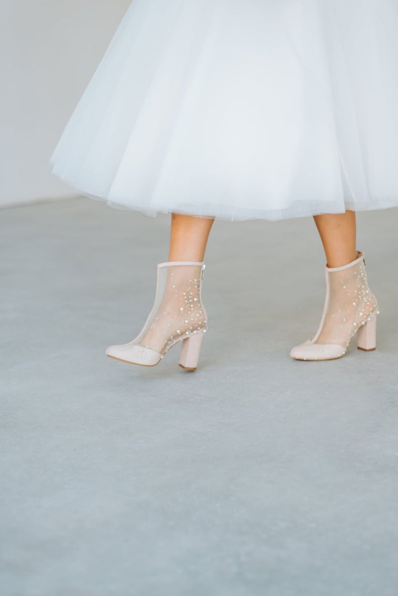 Couture Wedding Ankle Booties