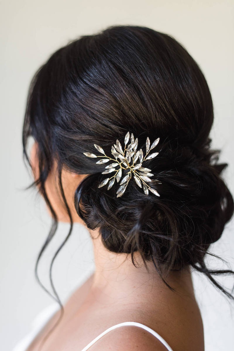 Crystal Branch Hair Pins