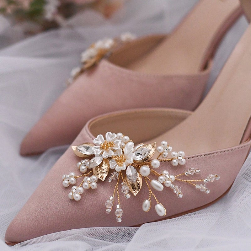 Crystal Jewelry Clip for Bridal Shoes