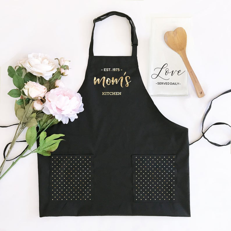 custom apron for mother of the bride gift