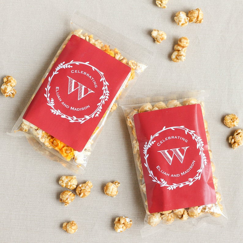 Caramel Corn Wedding Favor
