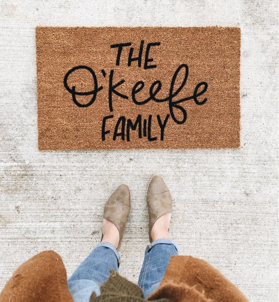 custom family doormat wedding engagement gift