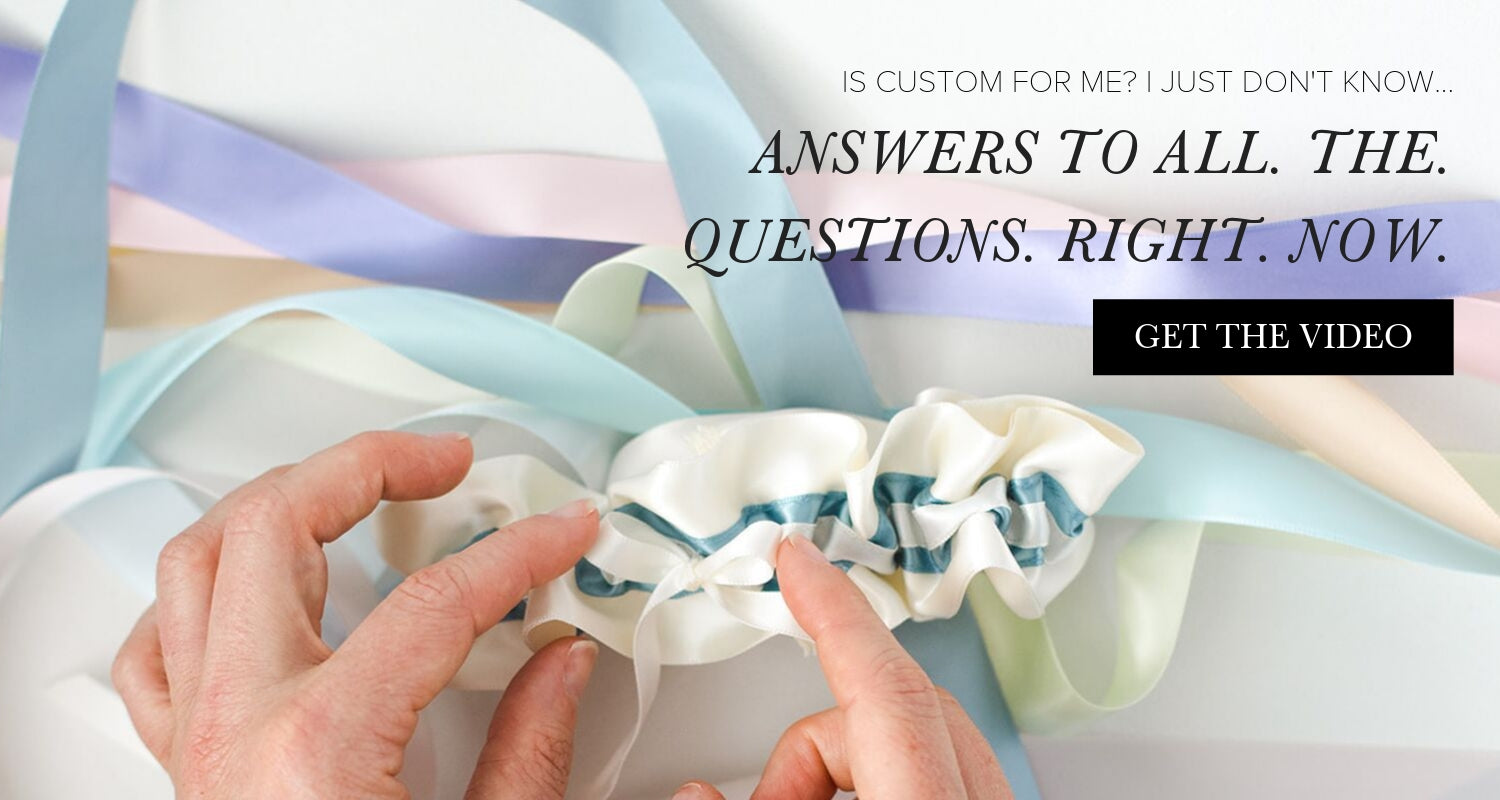 custom wedding garter design video from The Garter Girl