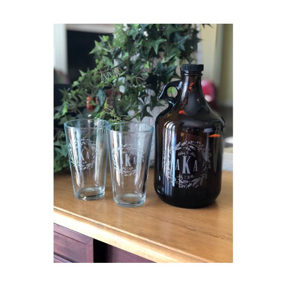 custom growler wedding engagement gift