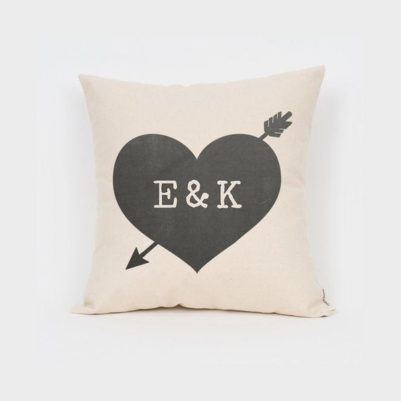 custom heart pillow wedding engagement gift