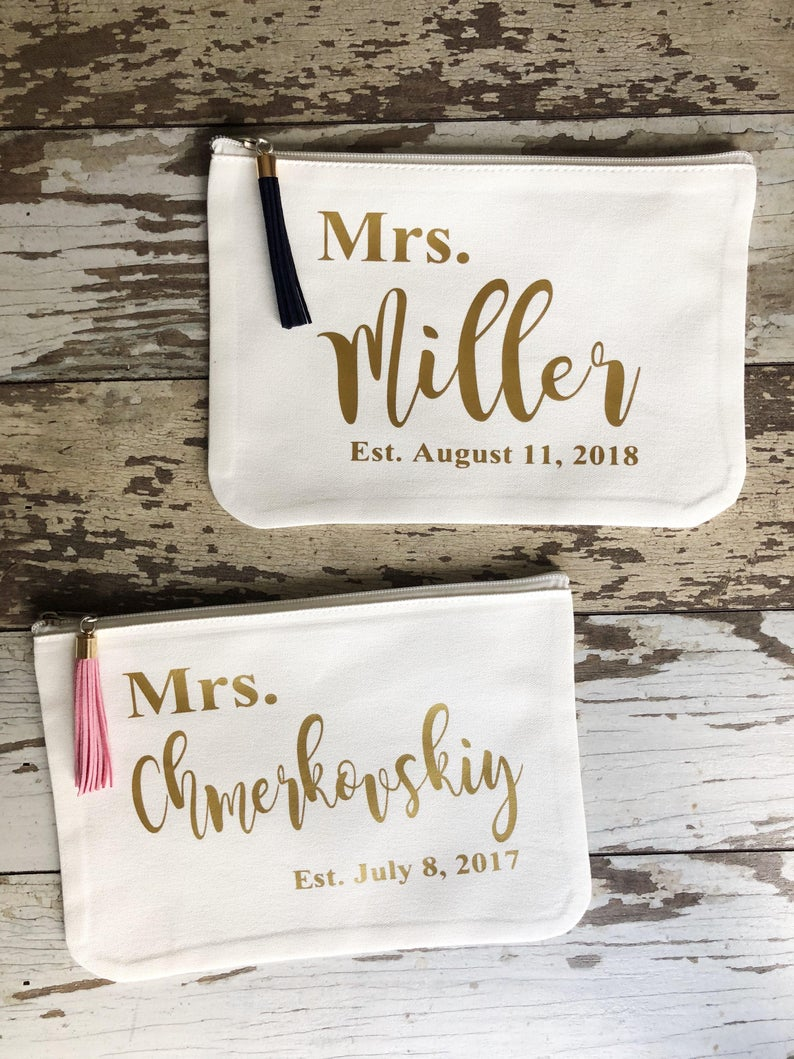 Custom Mrs Pouch Make Up Case