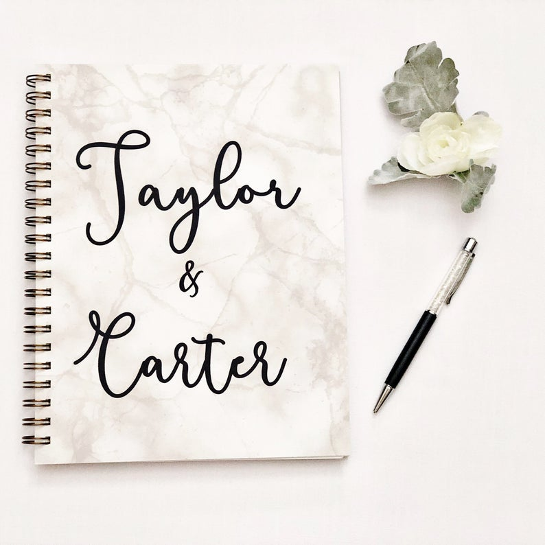 Custom Name Wedding Planning Notebook