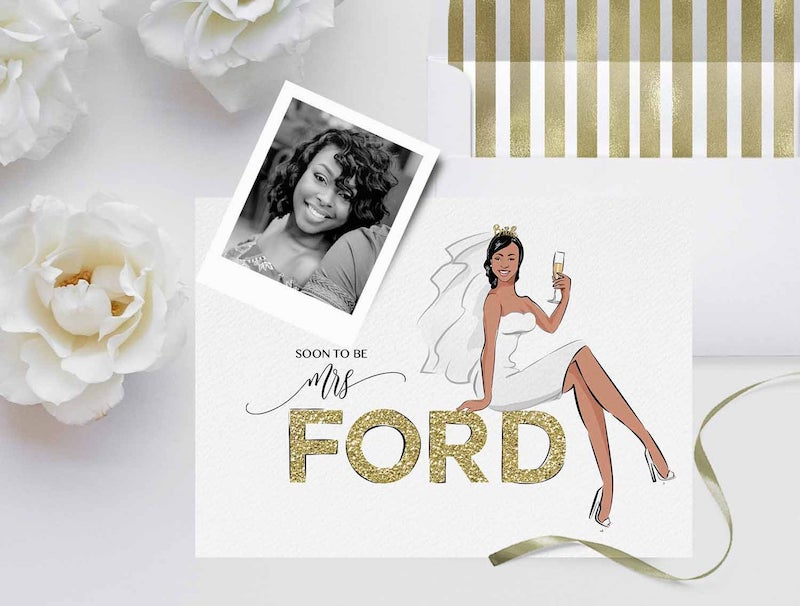 Custom Portrait Bridal Shower Invitation