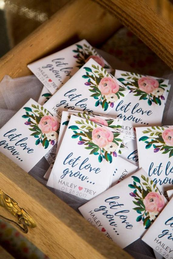 custom seed packets wedding guest favor