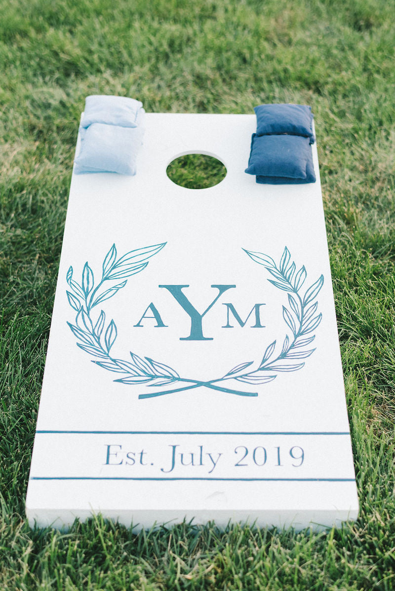 Custom Wedding Cornhole Board