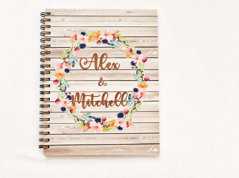 Custom Wedding Planning Notebook