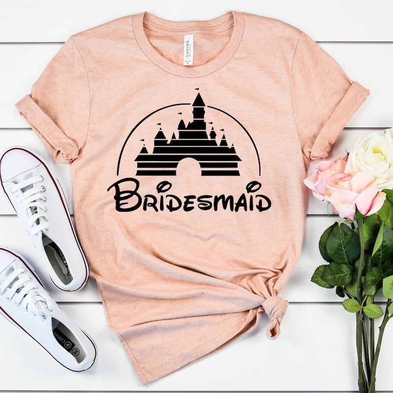 Disney Bridesmaid Tee Shirt
