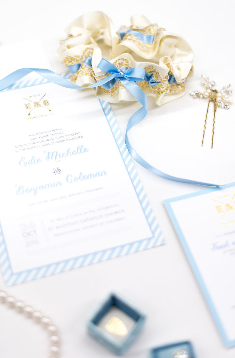something blue bridal accessories