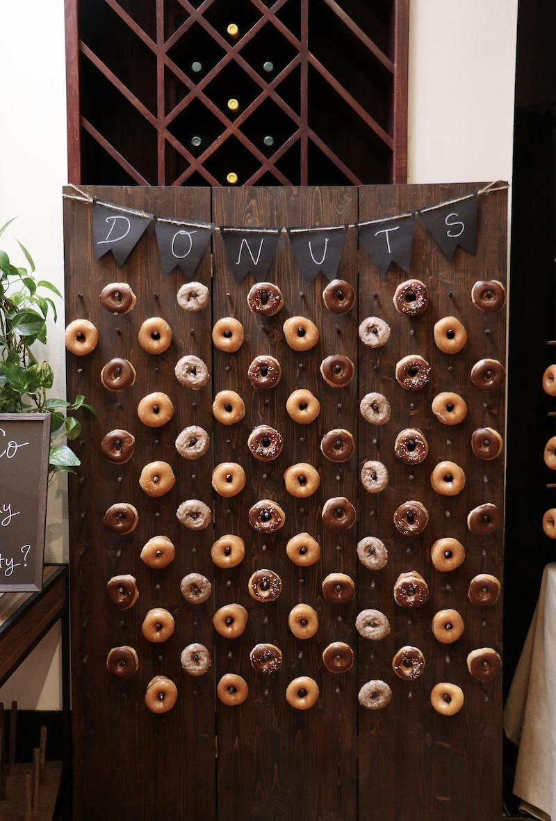 Donut Wall Rental for Winery Wedding