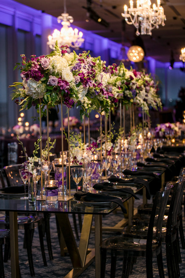 Dramatic Dark and Moody Tablescapes Wedding