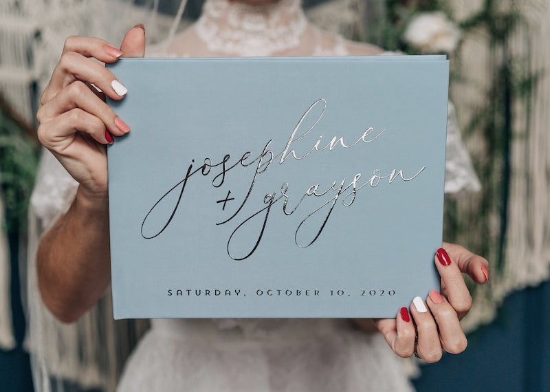 Dusty Blue Guest Book